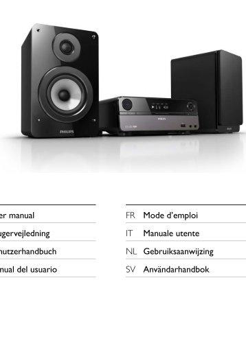 Philips Microchaîne DVD composantes - Mode d'emploi - DAN