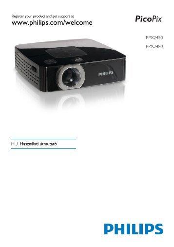 Philips PicoPix Projecteur de poche - Mode d'emploi - HUN