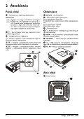 Philips PicoPix Projecteur de poche - Mode d'emploi - HUN - Page 6