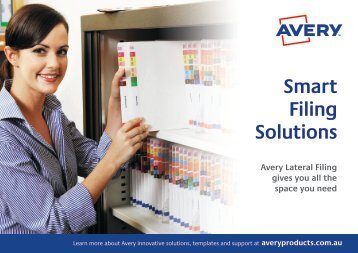 eSpecially Office AVERY Smart Filing Solutions Catalogue
