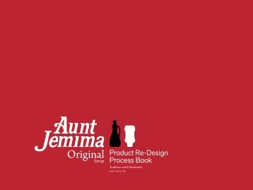 Aunt Jemima Maple Syrup Process Book