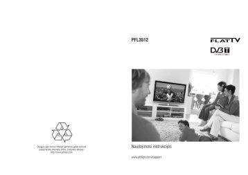 Philips Téléviseur à écran large - Mode d'emploi - LIT
