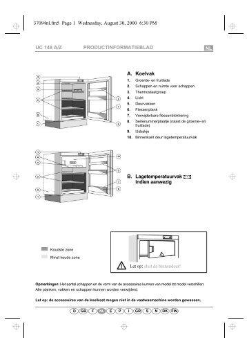 KitchenAid 400 150 66 - Refrigerator - 400 150 66 - Refrigerator NL (855100301300) Scheda programmi
