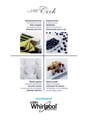 KitchenAid JC 213 WH - Microwave - JC 213 WH - Microwave ET (858721399290) Istruzioni per l'Uso