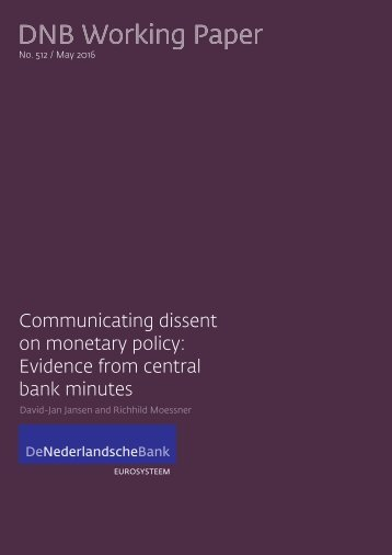 Communicating dissent on monetary policy Evidence from central bank minutes