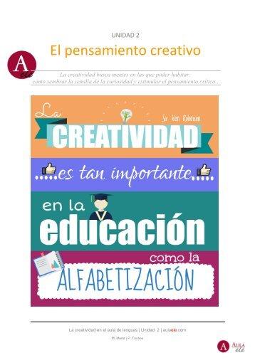 La creatividad en el aula de lenguas / U2