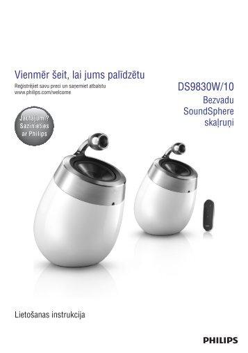 Philips Fidelio Enceintes sans fil SoundSphere - Mode d'emploi - LAV