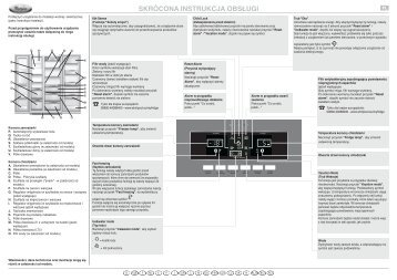 KitchenAid 20RB-D3J - Side-by-Side - 20RB-D3J - Side-by-Side PL (858644115010) Scheda programmi