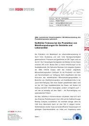 Nullfehler-Toleranz bei der Produktion von ... - ISRA VISION AG