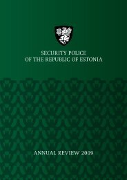 annual review 2009 security police of the republic of estonia