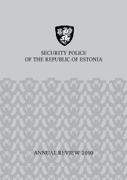 annual review 2010 security police of the republic of estonia