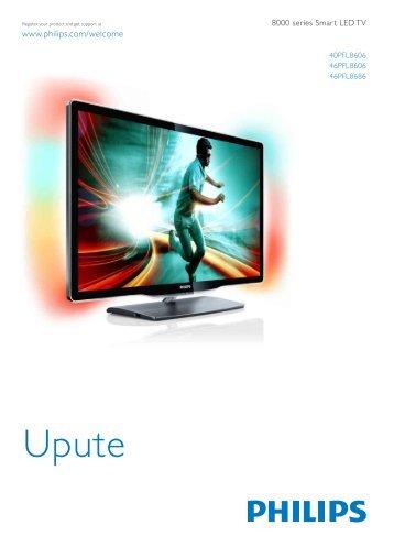 Philips 8000 series Téléviseur LED Smart TV - Mode d'emploi - HRV