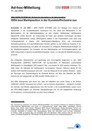 Ad-hoc-Mitteilung - ISRA VISION AG