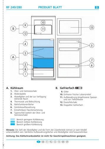 KitchenAid 38010 - Fridge/freezer combination - 38010 - Fridge/freezer combination DE (853962772000) Scheda programmi