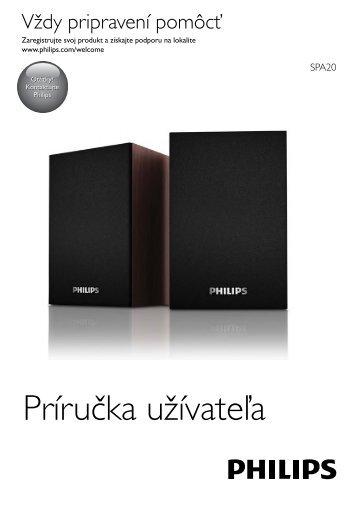 Philips Enceintes USB pour ordinateur portable - Mode d'emploi - SLK
