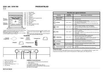 KitchenAid 501 237 39 - Oven - 501 237 39 - Oven SV (857922101010) Scheda programmi