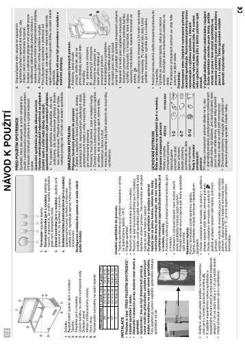 KitchenAid ZB 265 - Freezer - ZB 265 - Freezer CS (850796610000) Scheda programmi