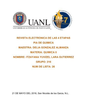 REVISTA ELECTRONICA DE LAS 4 ETAPAS QUIMICA