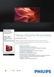 Philips 5500 series Téléviseur LED plat Full HD avec Android™ - Fiche Produit - FRA