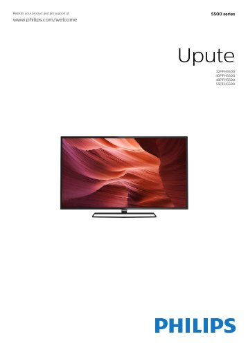 Philips 5500 series Téléviseur LED plat Full HD avec Android™ - Mode d'emploi - HRV