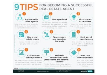 9 Tips to Become a Successful Real Estate Agent [Infographic]