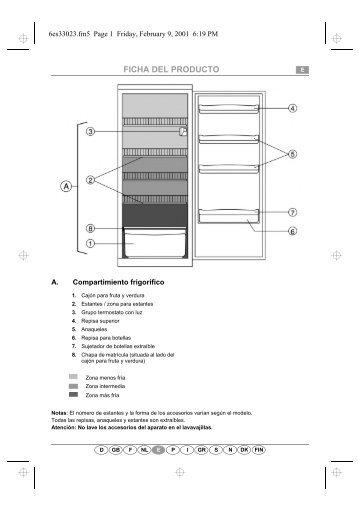 KitchenAid 509 775 - Refrigerator - 509 775 - Refrigerator ES (853916922020) Scheda programmi