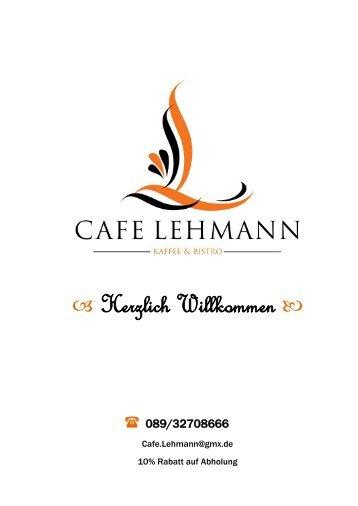 Cafe Lehmann Karte