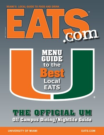 THE OFFICIAL UM MENU GUIDE - Local Restaurants, Online Menu ...