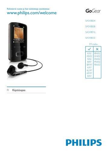 Philips GoGEAR Baladeur MP4 - Mode d'emploi - FIN