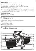 Philips Microchaîne - Mode d'emploi - HUN - Page 6