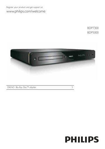 Philips Lecteur de disques Blu-ray - Mode d'emploi - DAN