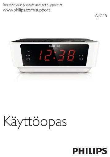Philips Radio réveil avec tuner numérique - Mode d'emploi - FIN