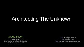 Architecting The Unknown