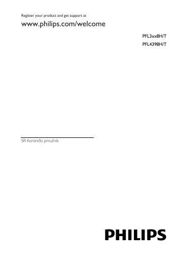 Philips 3100 series Téléviseur LED ultra-plat - Mode d'emploi - SRP