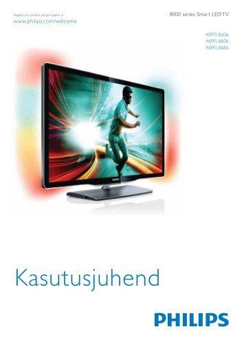 Philips 8000 series Téléviseur LED Smart TV - Mode d'emploi - EST