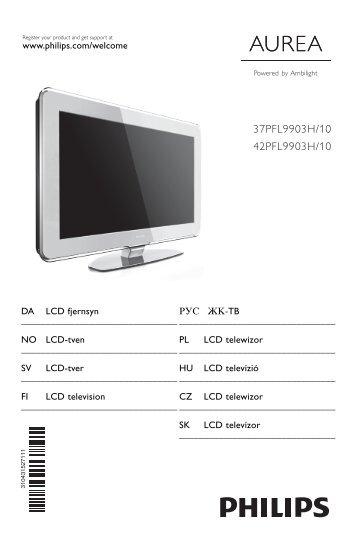 Philips Aurea TV LCD - Mode d'emploi - DAN