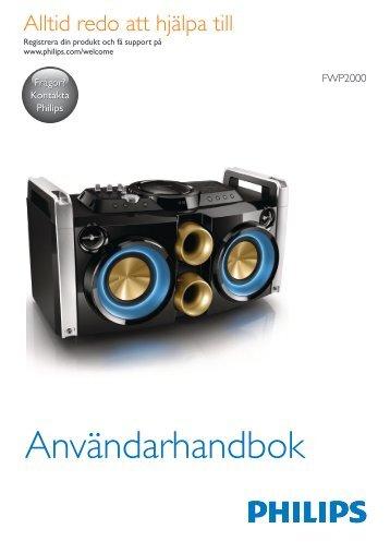Philips Minichaîne hi-fi - Mode d'emploi - SWE