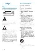 Philips Minichaîne hi-fi - Mode d'emploi - SWE - Page 3