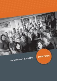 Annual Report 2010-2011 - Communify Queensland