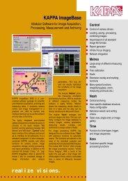 realize visions. KAPPA ImageBase - Opticstar