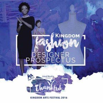 KA 2016 Fashion Designer Prospectus