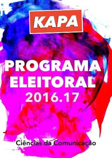 Programa Eleitoral |KAPA