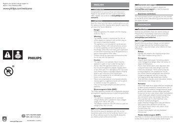 Philips Hairclipper series 9000 Tondeuse à cheveux - Instructions avant utilisation - MSA