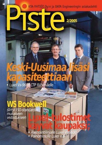 Pistelehti 2/2005 - KTA-Yhtiöt Oy