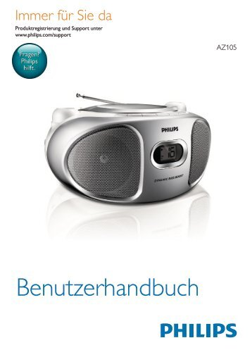 Philips Lecteur de CD - Mode d'emploi - DEU
