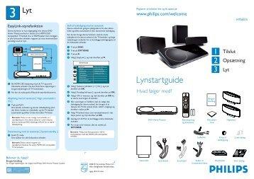 Philips Système Home Cinéma DVD - Guide de mise en route - NOR