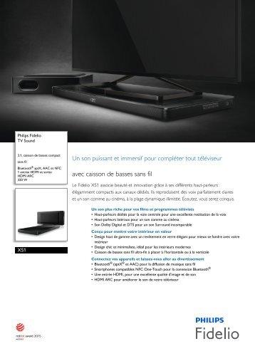 Philips Fidelio TV Sound - Fiche Produit - FRA