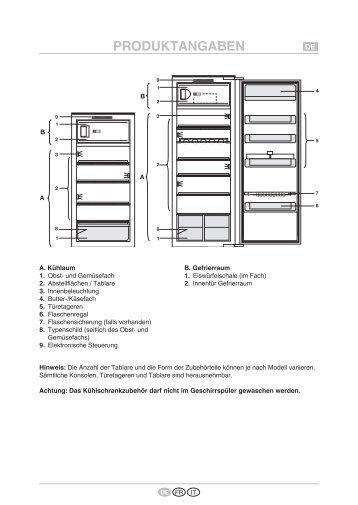 KitchenAid 5100700015 - Refrigerator - 5100700015 - Refrigerator DE (855162916040) Scheda programmi