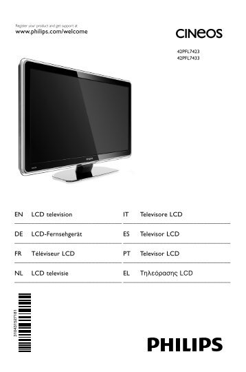 Philips TV LCD - Mode d'emploi - ITA