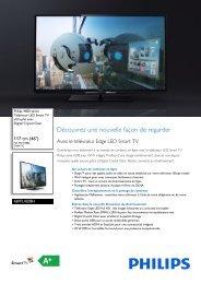 Philips 4000 series Téléviseur Edge LED Smart TV - Fiche Produit - FRA